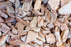 Beige gravel stone floor texture background.  royalty free stock photography