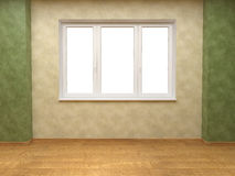 Beige and green walls with window Royalty Free Stock Photography