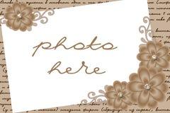Beige grens voor beeld Stock Foto's
