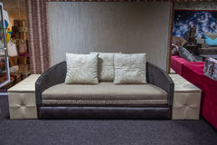 Beige and grey sofa Royalty Free Stock Photography