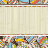 Beige grunge background with easter eggs Royalty Free Stock Images