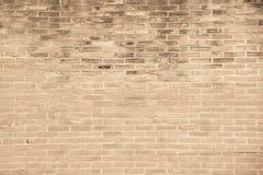 Beige grunge brick wall texture background Stock Photos