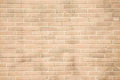 Beige grunge brick wall texture background Stock Image