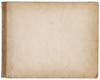 Beige grunge paper cover with age marks Stock Photography