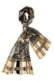 Beige halsduk med blom- design Royaltyfri Bild