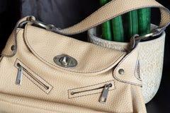 Beige handbag for women Royalty Free Stock Images
