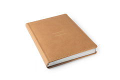 Beige hardcover leather business diary Royalty Free Stock Image
