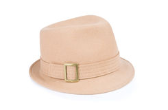 Beige hat isolated on white background Stock Photography