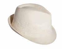 Beige hat isolated Royalty Free Stock Photo