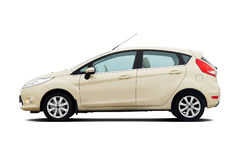 Beige hatchback Stock Images