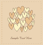 Beige hearts in circle. Stock Photos