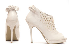 Beige High Heels Stock Image
