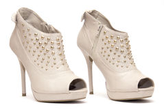 Beige High Heels Royalty Free Stock Images