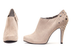 Beige High Heels Stock Photography