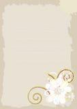 Beige Hintergrund mit abstrakten Blumen. Stockbild
