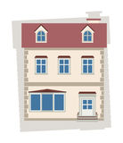 Beige house Stock Images