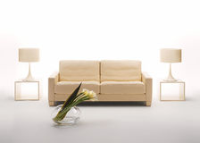Beige interior Royalty Free Stock Photo