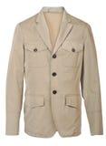 Beige jacket. Isolated on white Royalty Free Stock Photography