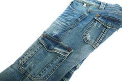 Beige jeans Arkivbilder