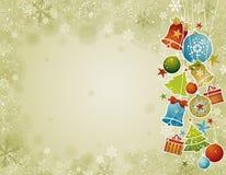 Beige Kerstmisachtergrond, illustratie Stock Fotografie