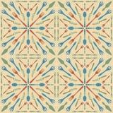 Beige kleur van het bestek de naadloze patroon Stock Foto's