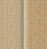 Beige knitted pattern with braids Royalty Free Stock Images