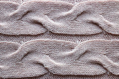 Beige knitted texture Stock Photo