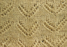 Beige knitted texture Royalty Free Stock Photo