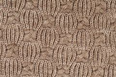 Beige knitted wool background. Beige knitted textured wool background Stock Photos