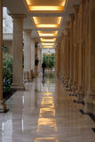 beige korridor Arkivfoto