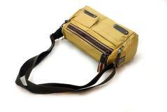 Beige kvinnahandväska (räcka-hänga lös), royaltyfria foton
