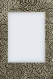 Beige lace background. Closeup with copy space Royalty Free Stock Image