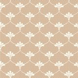 Beige lace. Beige lace on brown background Stock Images