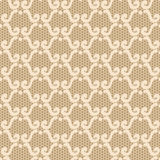Beige lace. On brown background Royalty Free Stock Image