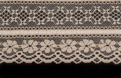 Beige lace with floral pattern Royalty Free Stock Images