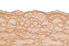 Beige lace isolate Stock Image