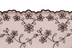 Beige lace Stock Images