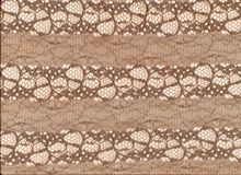 Beige lace pattern on white background. royalty free stock images