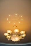 Beige lamp. Stock Photos
