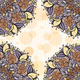 Beige and lavender mandala subtle striped seamless pattern.wedding tender design.Flowers  decorative wrath Royalty Free Stock Photo
