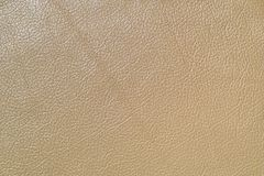 Beige leather. Furniture upholstery leather of beige color Royalty Free Stock Images