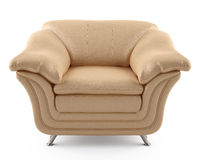 Beige leather armchair Royalty Free Stock Photography