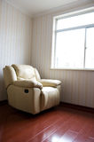 Beige leather armchair Royalty Free Stock Photos