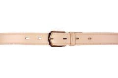 Beige leather belt Stock Images