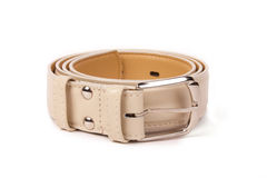 Beige leather belt Royalty Free Stock Image