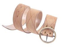Beige leather belt Stock Image