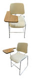 Beige leather chair for study. On white background Royalty Free Stock Photos