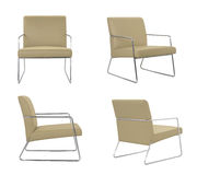 Beige leather Chair Royalty Free Stock Photos