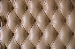 Beige leather detailed background with round buttons. royalty free stock photography