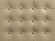 Beige Leather. Upholstery. Computer generated image Royalty Free Stock Images
